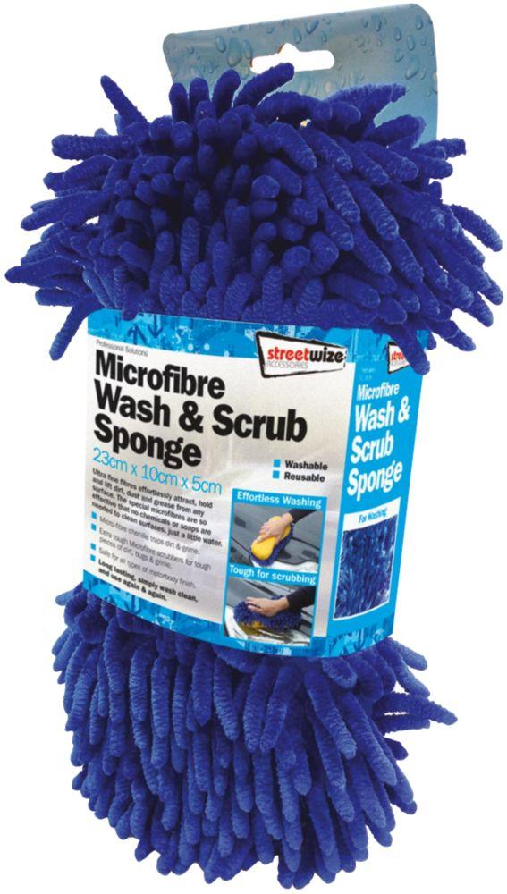 Image of Foam Microfibre Wash & Scrub Sponge