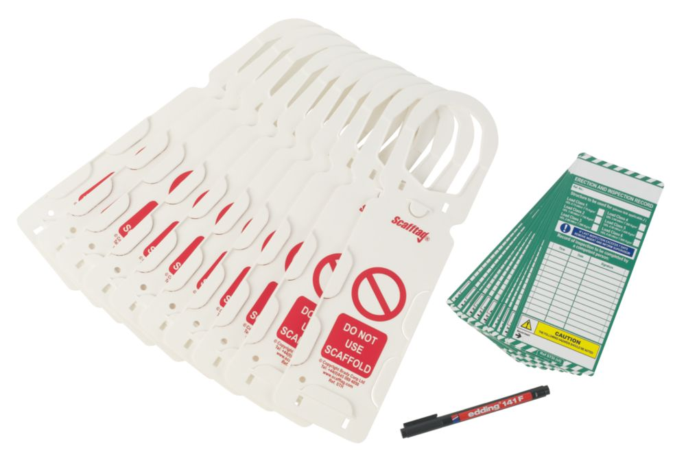 Image of Scafftag Scaffold Tagging System Kit