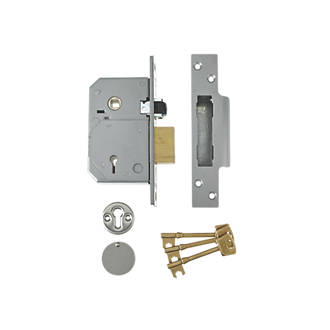 Image of Union Satin Chrome BS 5-Lever Mortice Sashlock 67mm Case - 40mm Backset