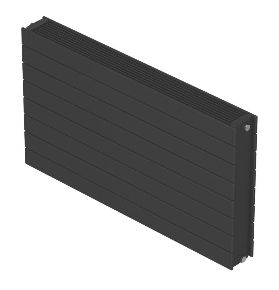 Image of Barlo Decorative Horizontal Double-Panel Designer Radiator Matt Charcoal 578 x 1000mm