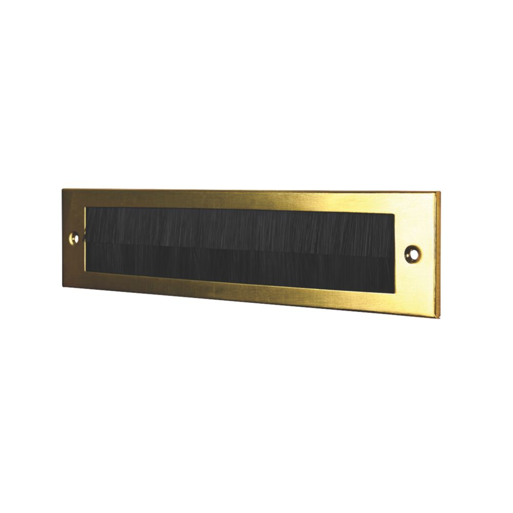 Image of Stormguard Brush Letter Plate Gold 338 x 75mm