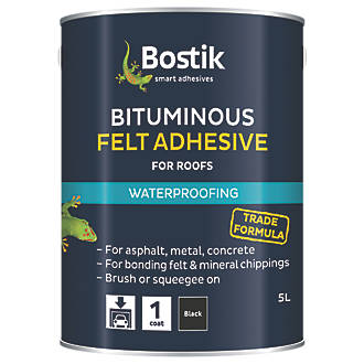 Image of Cementone Feltfix Bituminous Roof Felt Adhesive Black 5Ltr