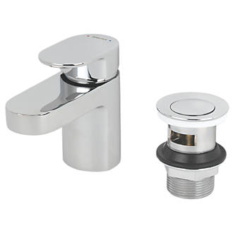 Image of Bristan Frenzy Basin Mono Mixer Tap with Clicker Waste