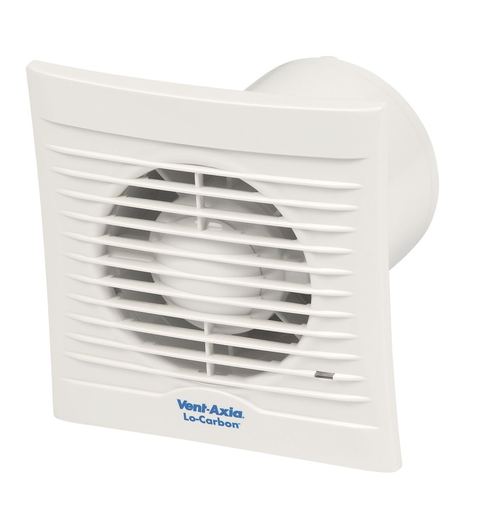 Image of Vent-Axia 100H 6W LoCarbon Silhouette Axial Bath Extractor Fan w/Humidistat