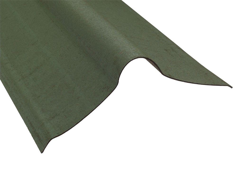 Image of Coroline Roofing Ridges Green 1000 x 420mm 5 Pack