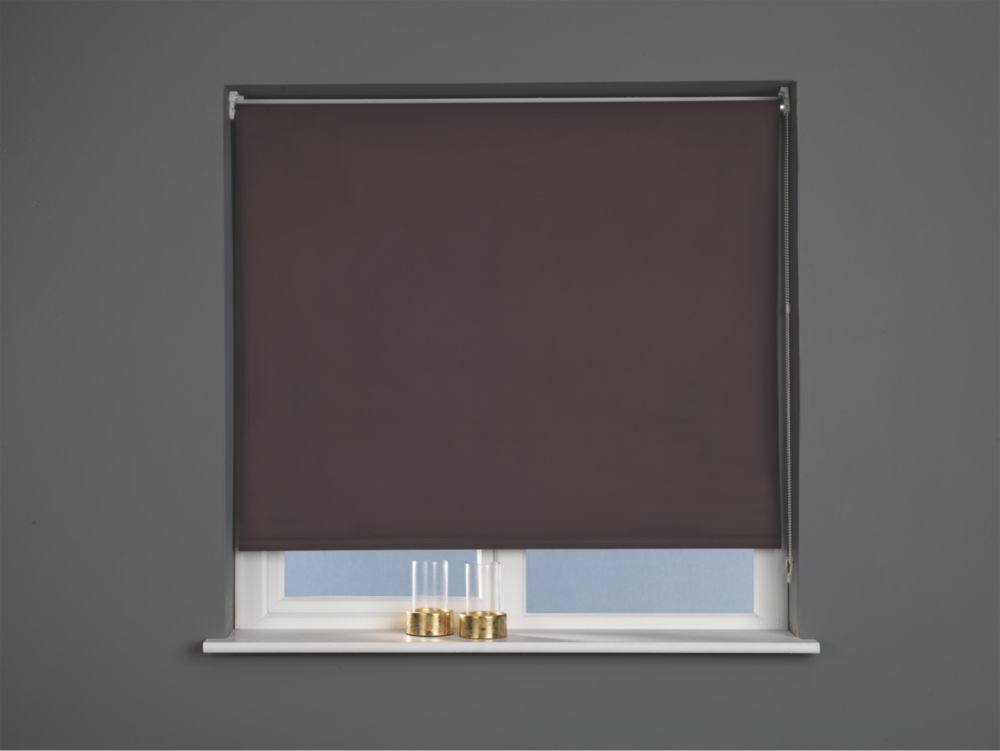 Image of Blackout Blind Brown 1800 x 1700mm