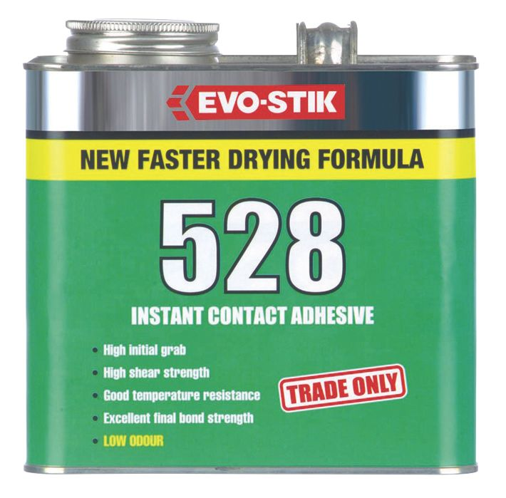 Image of Evo-Stik 528 Industrial Contact Adhesive Transluscent Amber 2.5Ltr