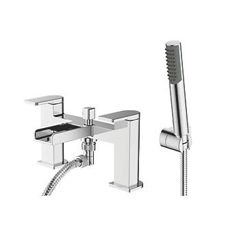 Image of Watersmith Heritage Niagara Waterfall Deck-Mounted Bath / Shower Mixer Tap