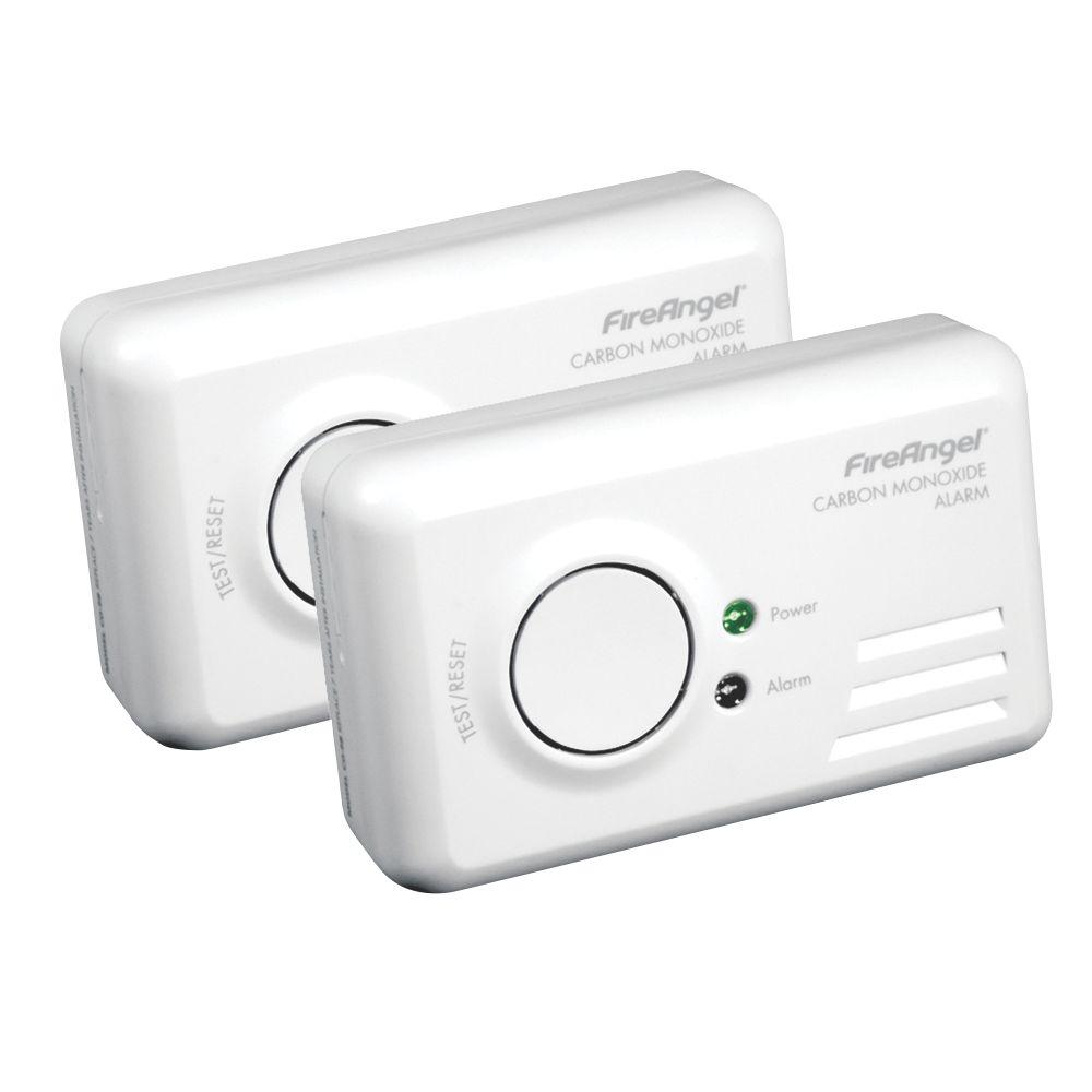 Image of FireAngel TCO-9BQ Carbon Monoxide Alarm 2 Pack
