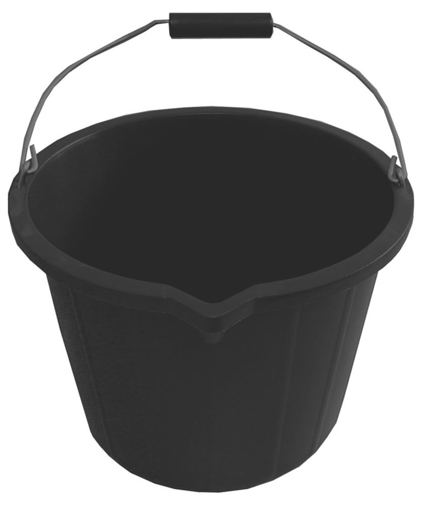 Image of Active Builders Buckets 14Ltr Black 5 Pack