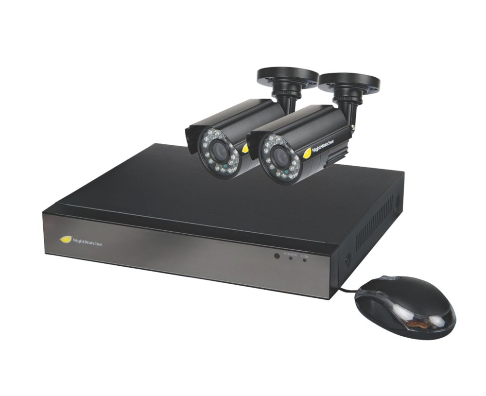 Image of Nightwatcher NW-4AHD-1TB-C720-2B 4-Channel CCTV DVR Kit & 2 Cameras