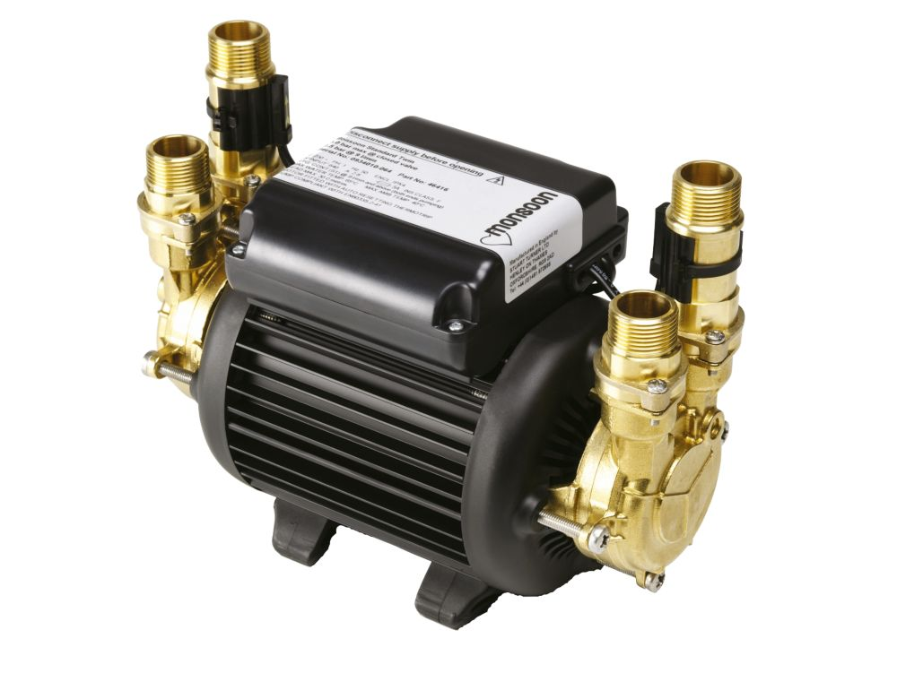 Image of Stuart Turner Monsoon Standard Regenerative Twin Shower Pump 3.0bar