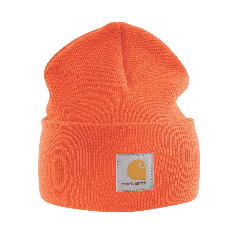 Image of Carhartt A18 Beanie Hat Orange