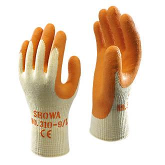 Image of Showa 310 Original Builders Gloves Orange Large