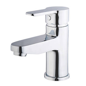 Image of Swirl Elevate Eco Basin Mono Mixer Bathroom Tap with Clicker Waste