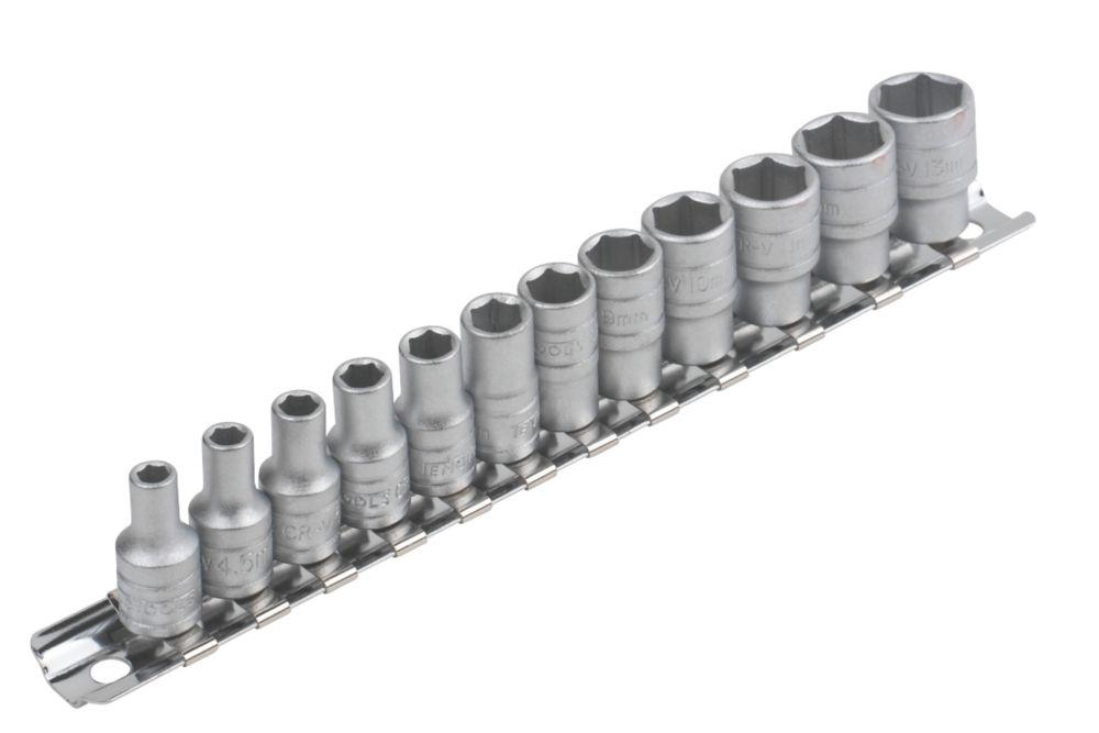 Image of Teng 12pc 1/4 In Socket Rail Metric 4-13mm