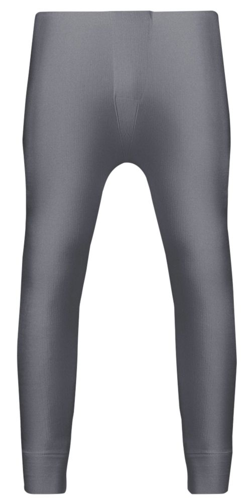 """Image of Workforce Thermal Baselayer Trousers Grey Large 36-38"""" W 30"""" L"""