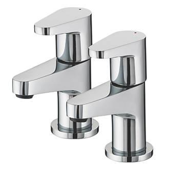 Image of Bristan Quest Bathroom Basin Taps Pair