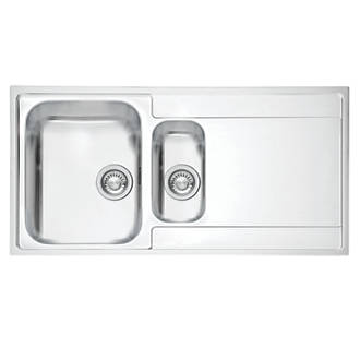 Franke Inset Kitchen Sink Stainless Steel 1.5 Bowl 1000 x 510mm ...