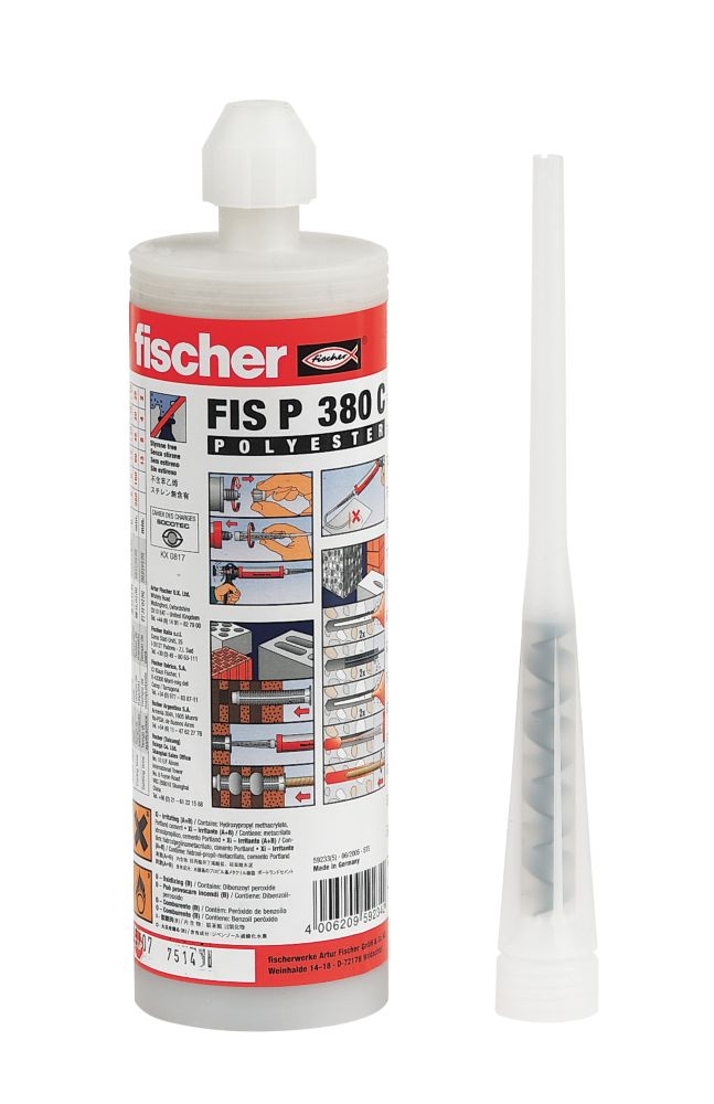 Image of Fischer FIS P Polyester Styrene-Free Resin 380ml
