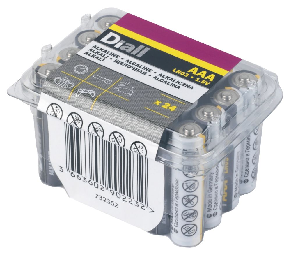 Image of Alkaline AAA Batteries 24 Pack