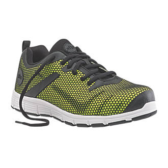 Site Flex Neon Safety Trainers Black  Yellow Size 10