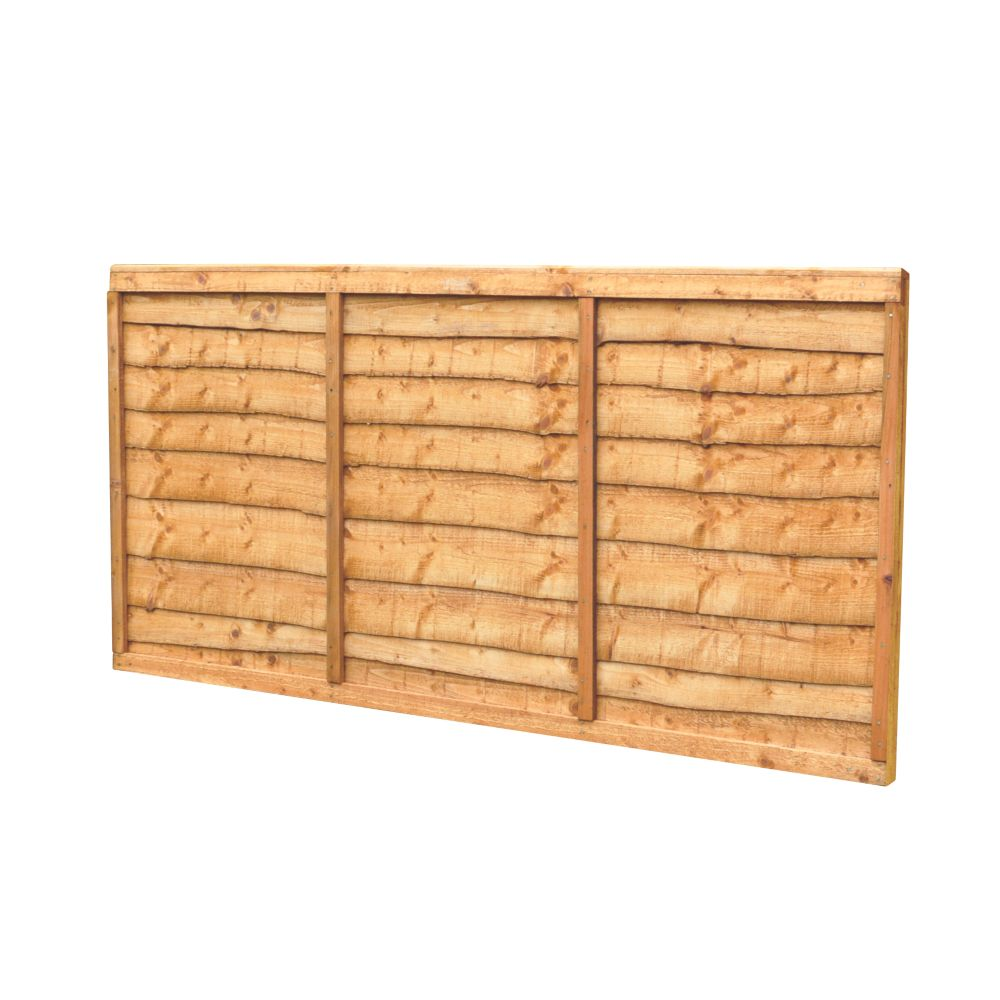 Image of Forest Closeboard Fence Panels 1.82 x 0.9m 3 Pack