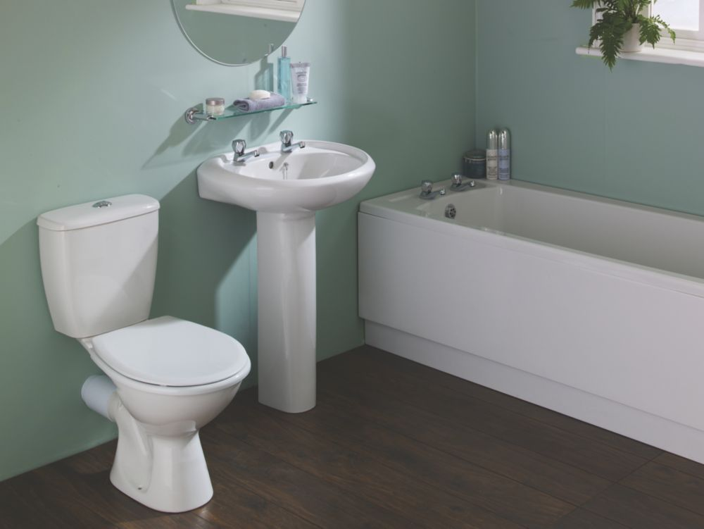 Image of Grove Traditional Single Ended Bathroom Suite with Acrylic Bath