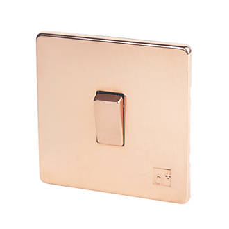 Image of Varilight 10A 1G Rocker Switch Anti-Microbial Copper 230V