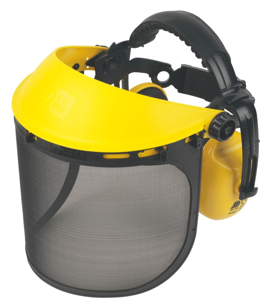 Image of Browguard with Ear Defenders Yellow