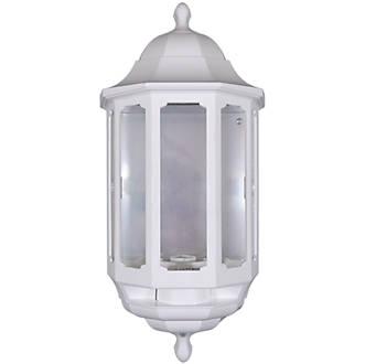 Image of ASD White BC PIR Master Half Lantern Wall Light PIR Included 60W
