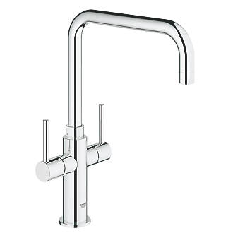 Image of Grohe Ambi Dual-Lever Mono Mixer Kitchen Tap Chrome