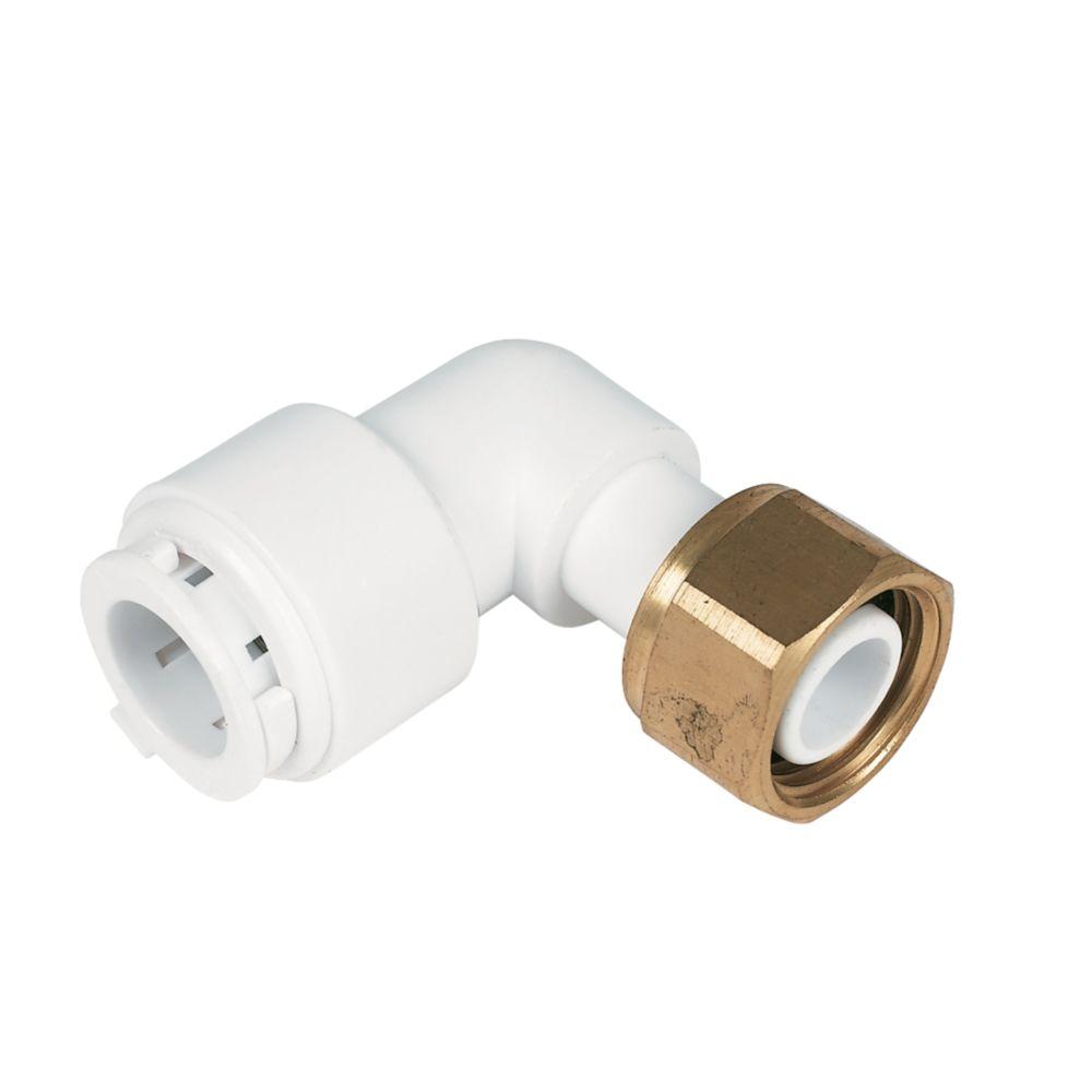 """Image of FloFit FBC1512 Bent Tap Connector White 15mm x """""""