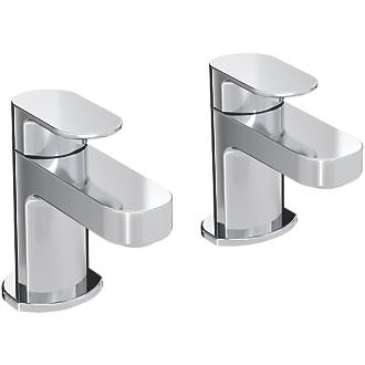 Image of Bristan Frenzy Bath Pillar Taps 2 Pack