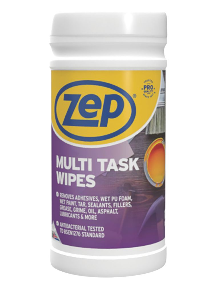 Image of Zep Commercial Multi-Task Wipes White 100 Pack