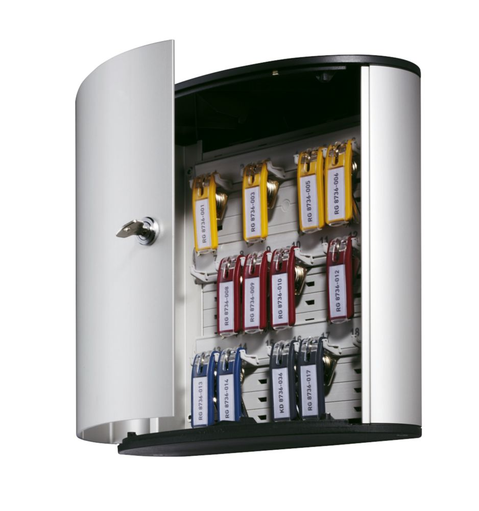 Image of Durable 18-Hook Key Cabinet