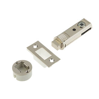 Image of Union Satin Nickel-Plated Tubular Privacy Bolt 73mm Case - 57mm Backset