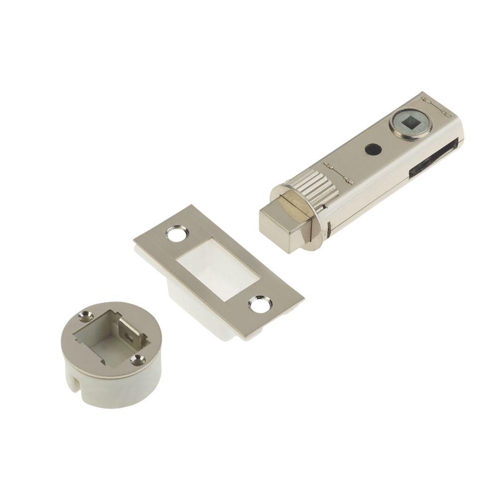 Image of Union Satin Nickel-Plated Tubular Privacy Bolt 73mm Case - 57mm Backset