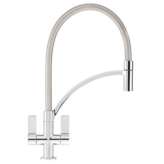 Franke Wave Pull Out Mono Mixer Kitchen Tap Chrome Taps Fix