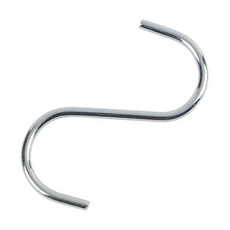 Image of Hardware Solutions Tidy S Hooks Chrome Plated 85mm 10 Pack