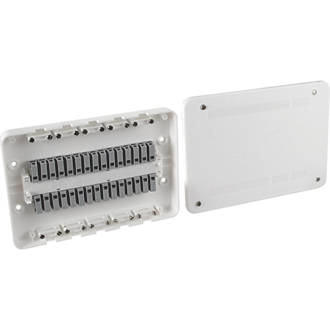 Image of Surewire SW7M-MF 16A 7-Way Pre-Wired Junction Box White