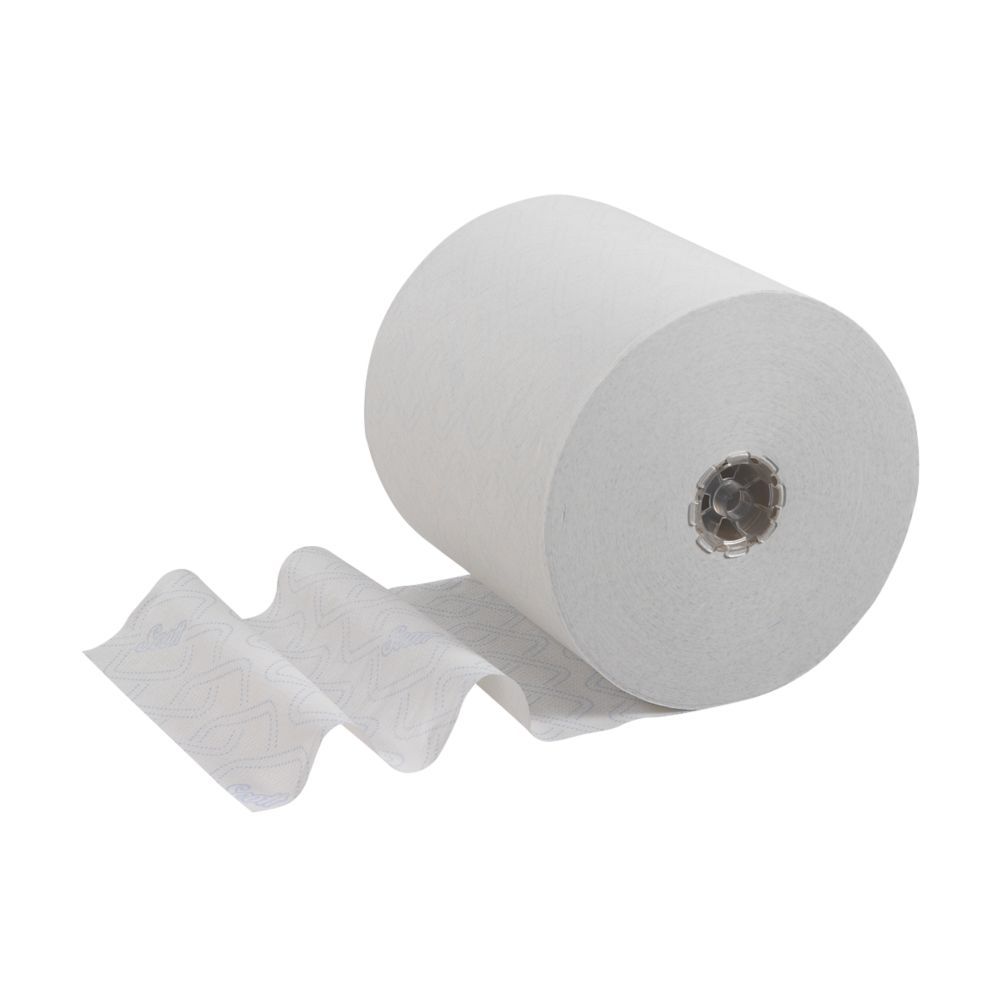Image of Kimberly-Clark Professional Scott Hand Towel Rolls White 1-Ply 0.2 x 250m 6 Pack