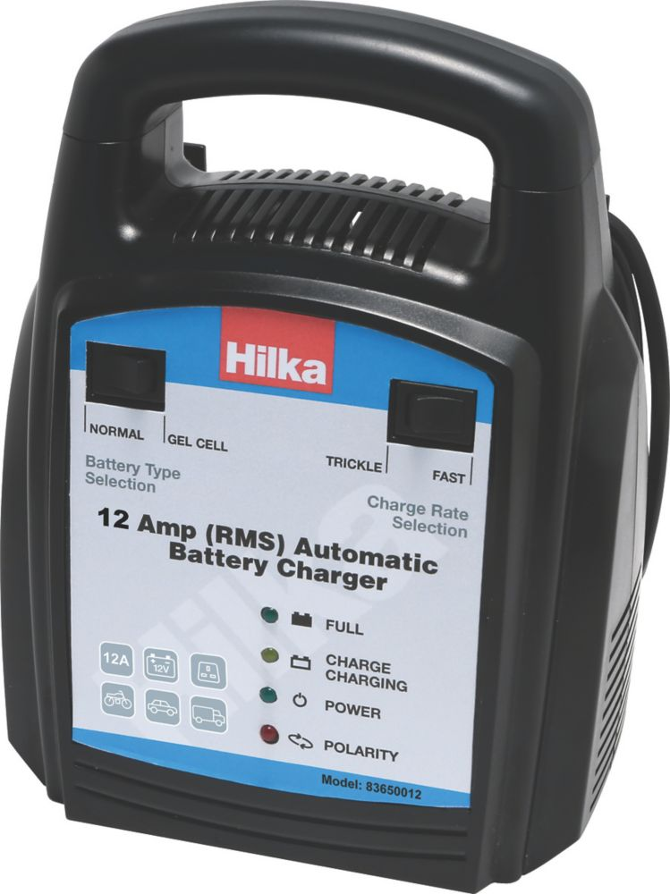 Image of Hilka Pro-Craft 83650012 12A RMS Battery Charger 12V