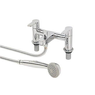 Swirl Elevate Deck Mounted Dual Lever Bath Shower Mixer Tap