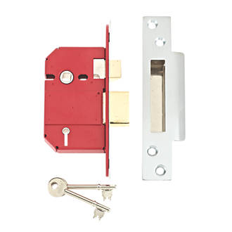 Image of Union Stainless Steel BS 5-Lever Mortice Sashlock 68mm Case - 45mm Backset