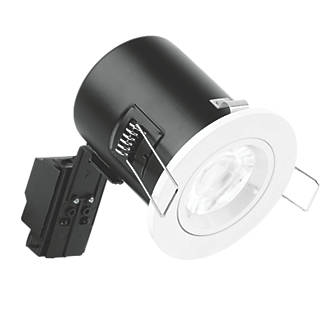 Image of Enlite Fixed Fire Rated LED Downlight White 500lm 5W 240V