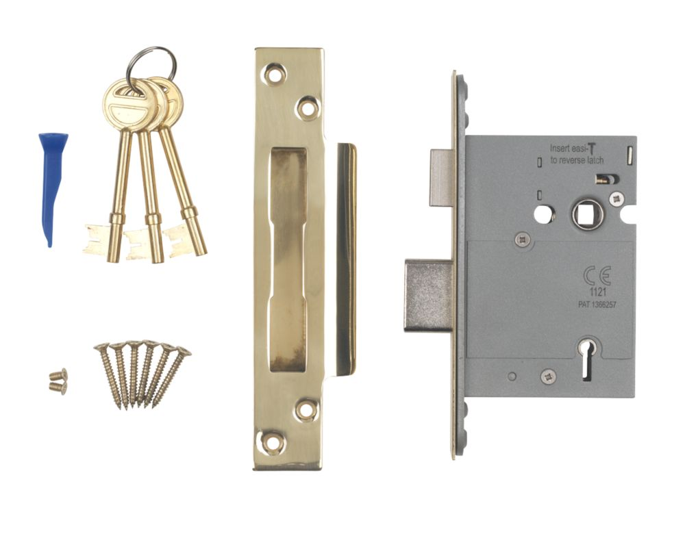 """Image of Smith & Locke BS 5-Lever Mortice Sashlock Stainless Brass 3"""" / 76mm"""