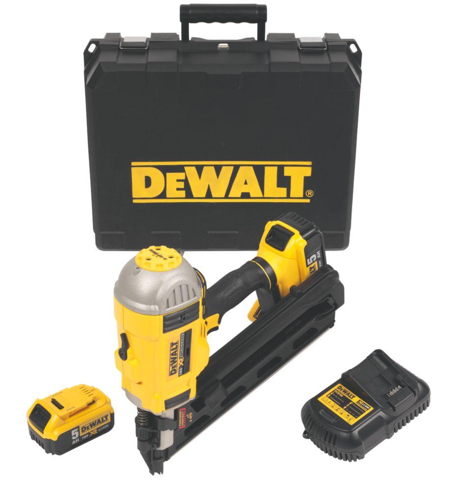 Image of DeWalt DCN692P2-GB 90mm 18V 5.0Ah Li-Ion First Fix Brushless Cordless Framing Nailer
