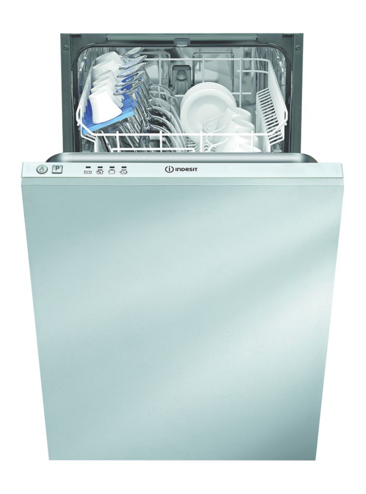 Image of Indesit DISR 14B 10-Place Integrated Dishwasher White 445 x 550 x 820mm