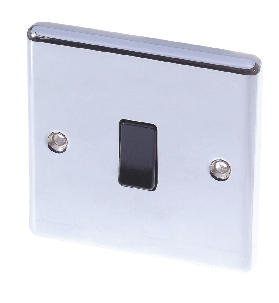 Image of LAP 10AX 1-Gang 2-Way Light Switch Polished Chrome